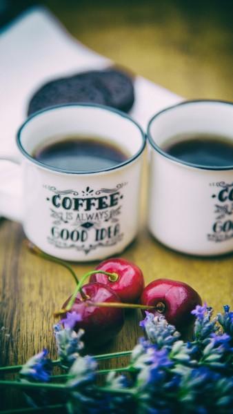 Mandeln-Kirsch-Schoko Kaffee